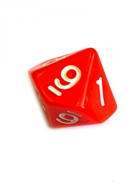 Кубик D10 Simple Red