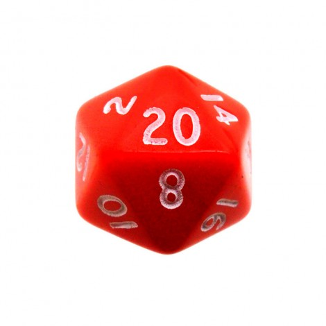 Кубик D20 Simple Red