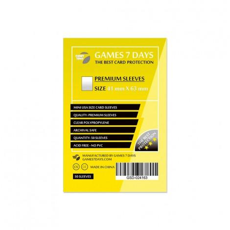 Протекторы для карт Games 7 Days Premium 41 x 63 мм (50шт)