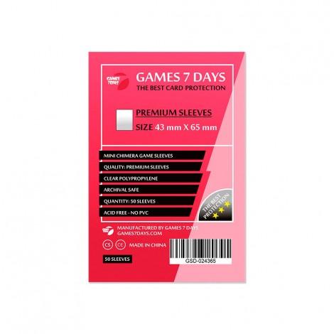Протекторы для карт Games 7 Days Premium 43 x 65 мм (50шт)