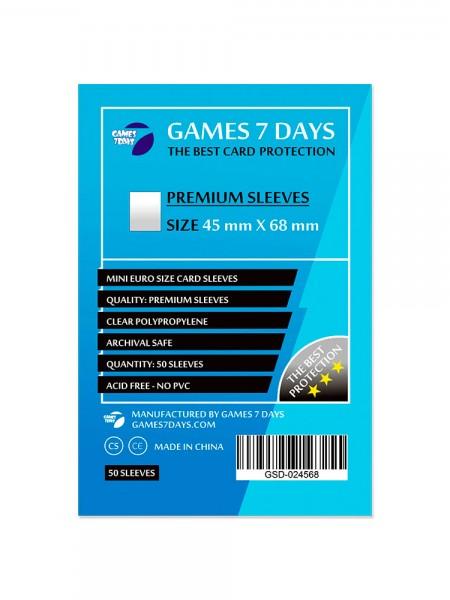 Протекторы для карт Games 7 Days Premium 45 x 68 мм (50шт)