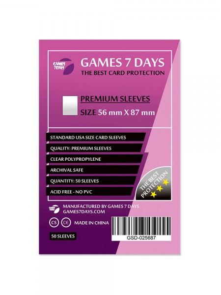 Протекторы для карт Games 7 Days Premium 56 x 87 мм (50шт)
