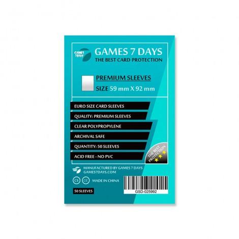 Протекторы для карт Games 7 Days Premium 59 x 92 мм (50шт)