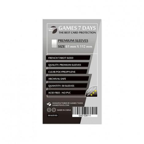 Протекторы для карт Games 7 Days Premium 61 x 112 мм (50шт)