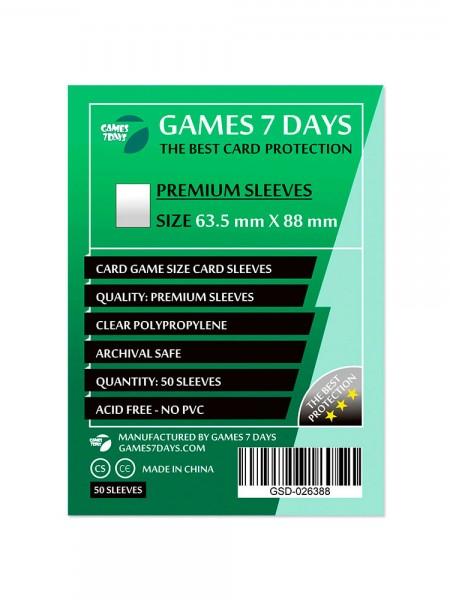 Протекторы для карт Games 7 Days Premium 63,5 x 88 мм (50шт)