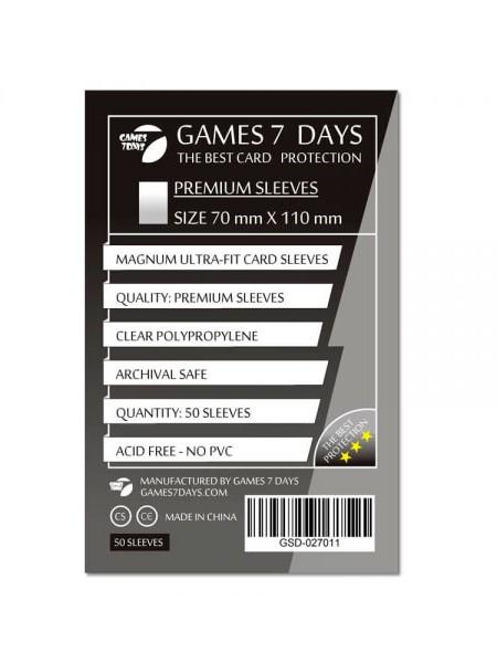 Протекторы для карт Games 7 Days Premium 70 x 110 мм (50шт)