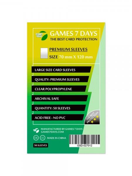 Протекторы для карт Games 7 Days Premium 70 x 120 мм (50шт)