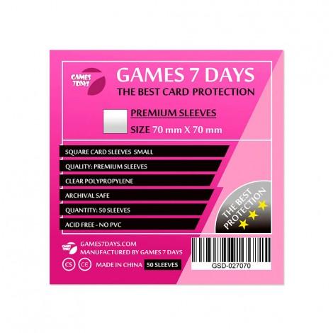 Протекторы для карт Games 7 Days Premium 70 x 70 мм (50шт)