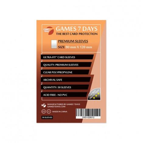 Протекторы для карт Games 7 Days Premium 80 x 120 мм (50шт)