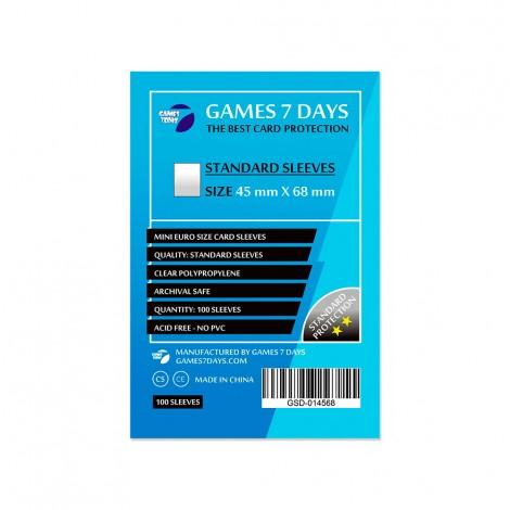 Протекторы для карт Games 7 Days Standart 45 x 68 мм (100шт)