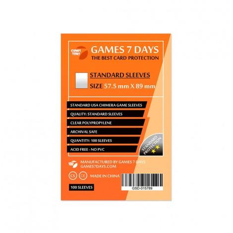 Протекторы для карт Games 7 Days Standart 57,5 x 89 мм (100шт)