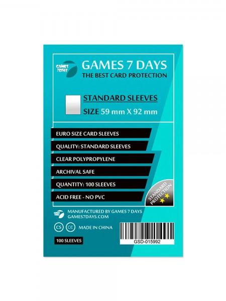 Протекторы для карт Games 7 Days Standart 59 x 92 мм (100шт)