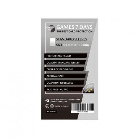 Протекторы для карт Games 7 Days Standart 61 x 112 мм (100шт)