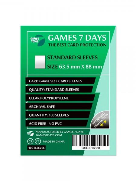 Протекторы для карт Games 7 Days Standart 63,5 x 88 мм (100шт)