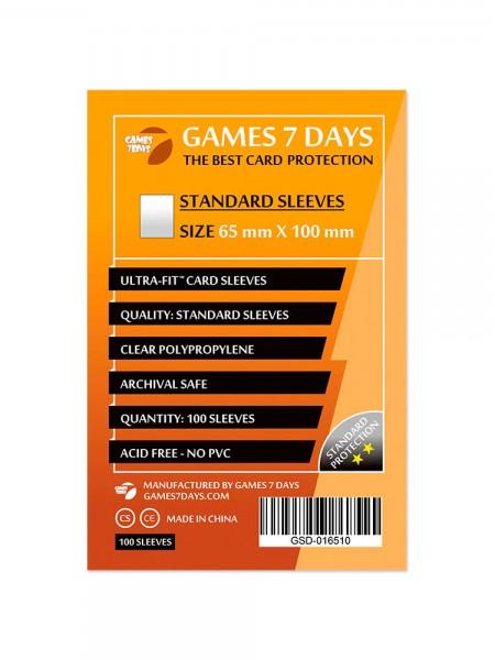 Протекторы для карт Games 7 Days Standart 65 x 100 мм (100шт)