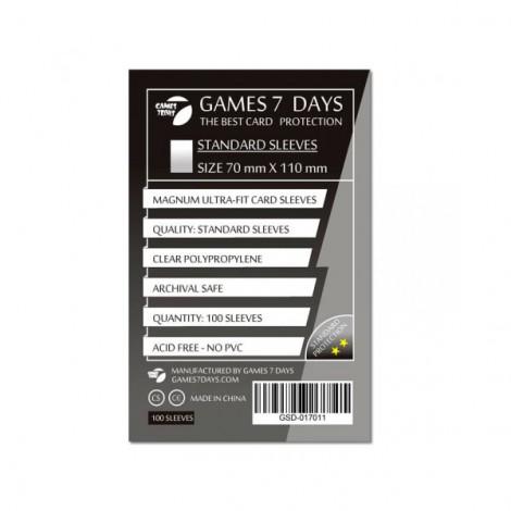 Протекторы для карт Games 7 Days Standart 70 x 110 мм (100шт)