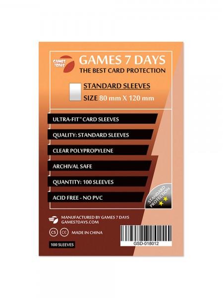 Протекторы для карт Games 7 Days Standart 80 x 120 мм (100шт)